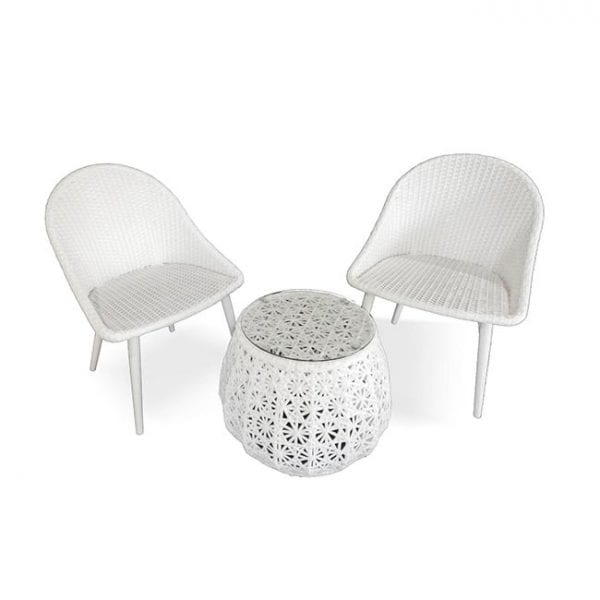Siena 3 piece wicker table and chairs