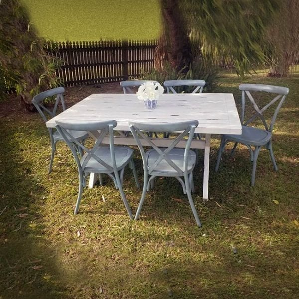 Sicillian Aluminium Dining Table 7 Piece